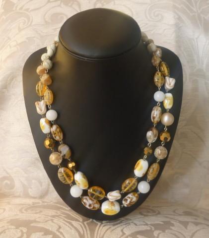 collana murano giallo ambra variegato 006