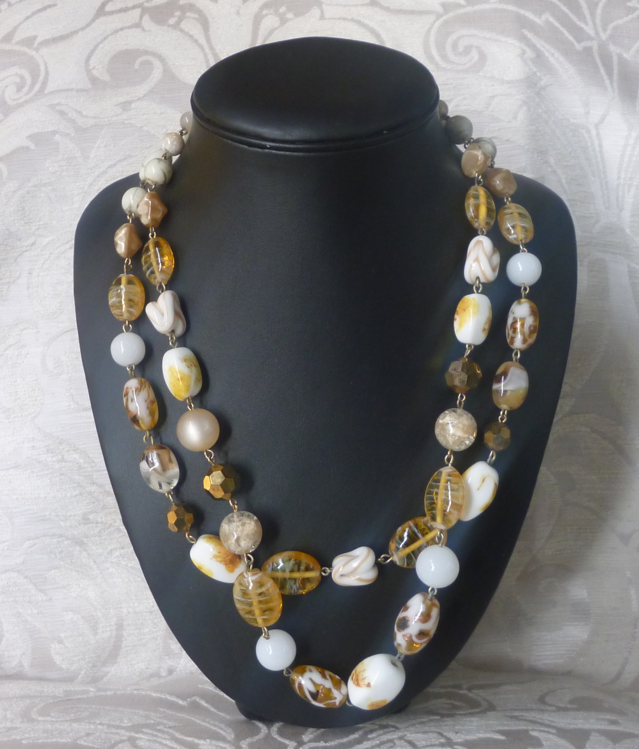 collana murano giallo ambra variegato 009