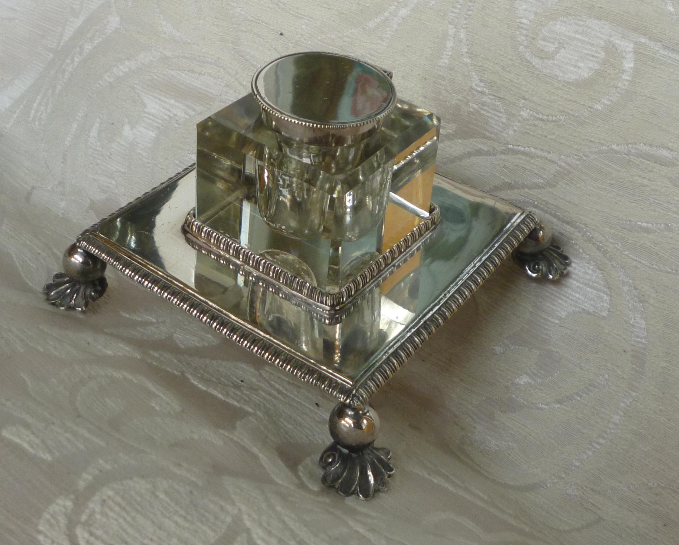 scaldacucchiaio, vaso argento, calamaio inglese calamaio danese 024