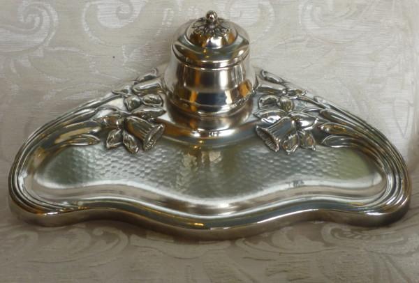 scaldacucchiaio, vaso argento, calamaio inglese calamaio danese 035