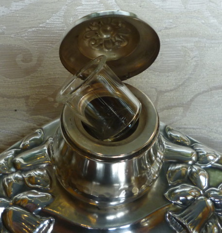 scaldacucchiaio, vaso argento, calamaio inglese calamaio danese 041