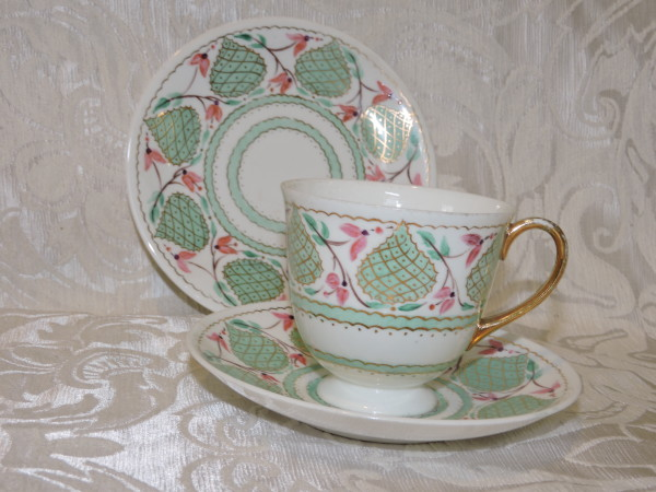 tazza shelley rosa e verde 006