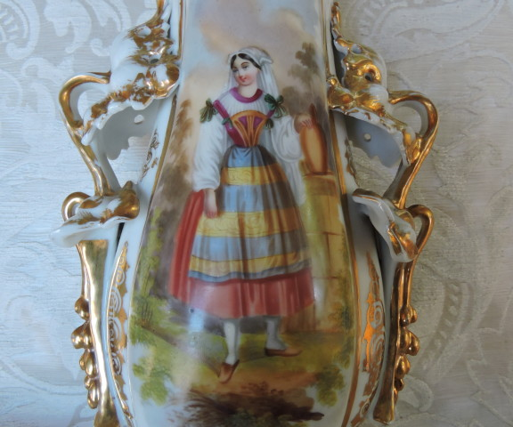 vaso porcellana con dama 003