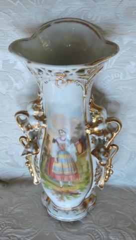 vaso porcellana con dama 006