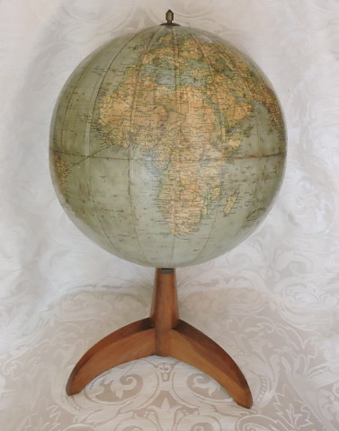 mappamondo antonio vallardi editore antique globe 30 cm