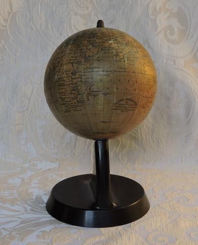mappamondo antonio vallardi editore antique globe 15 cm